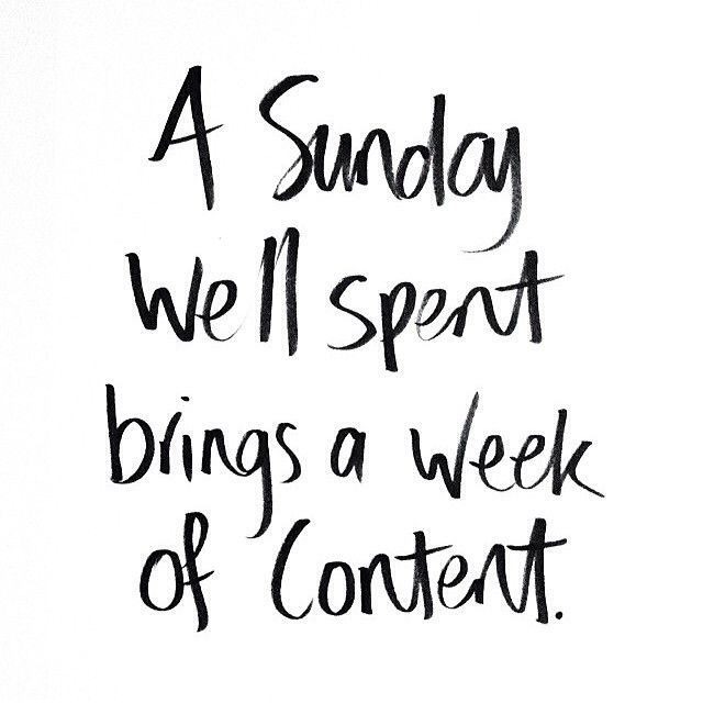 Sunday is your day to forget, relax, reflect, rejuvenate andenjoy…..